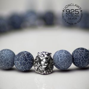 lionclaws-blue-thunder-löwenarmband-8mm-closeup